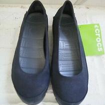 Crocs Black Slip on Women's Flats 15317 Stretch Your Sole Ballet Size 6 Photo