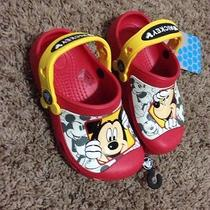 Crocs Boys Peek a Boo Mickey Clog Shoe Size 10/11  Photo