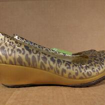 Crocs Carlisa Animal Print Mini Wedge Pink Womens Size 6  16292 Photo