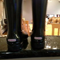 Crocs...childrens Black Rain Boots Size 11 Photo