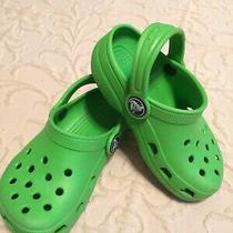 Crocs Classic Clog/mules. Childrens/toddler Size 6/7. Lime Green. Photo
