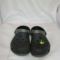 Crocs Classic Clogs Unisex Slippers Shoes Sandals Sz 10-11 Black Photo