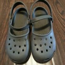 Crocs Clogs Grey Slip on Gently Worn Guc Women's Size 7 Photo