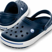 Crocs Crocband Ii Navy Blue White Clogs Slip on Classics Sandals 11989 42t New Photo