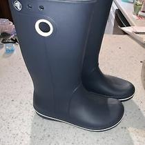 Crocs Crocband Jaunt Navy Blue Rain Boots Lightweight Comfort - Womens Size 6 Photo