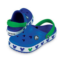 Crocs - Crocs Crocband Mickey Mouse - Sea Blue/lime Photo