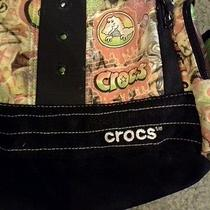 Crocs Cross Body Backpack Graffiti Pattern Book Bag Photo