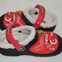 Crocs Disney Lightning Mcqueen Boys Toddler Size 10-11  Photo