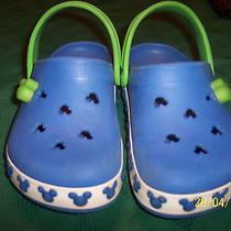 Crocs Disney Mickey Mouse Blue Green Size J3 Lighted Photo