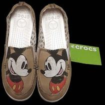 Crocs Disney Mickey Mouse Canvas Loafers Women's Size 8 New Photo