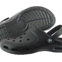 Crocs Duet Plus 12212-02s Black Graphite Casual Sandals Slipper Unisex Photo
