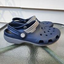 Crocs Duet Unisex Clogs Sandals (Mens 4 Womens 6) Navy Blue Gray 11001 Relax Photo