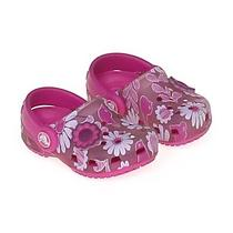 Crocs Floral Plastic Clogs Size 5 Infant Photo