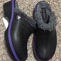 Crocs Girls Cheerful Christie Clog Shoes Size 1 Black/graphite Photo