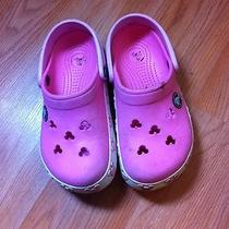Crocs Girls Pink Mickey Mouse 10/11 Photo