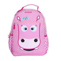 Crocs Girls Pink Travel Suitcase Rolling Children's Luggage & Backpack Set Photo