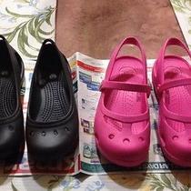 Crocs Girls Size 1 (2 Pair) Photo
