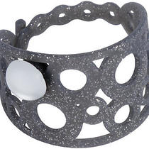 Crocs Jibbitz Shoe Charms Stretchy Black Glitter Adrina Bracelet W/ Frosted Gem Photo