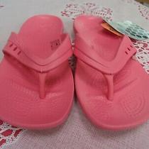 Crocs Kadee Coral Relaxed Fit Flip-Flop Sandals Big Girl Women's Us Size 4 Nwt Photo