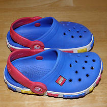 Crocs Lego Red & Blue Water Sandals Boys Size 6 7 Photo