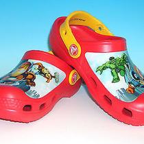 Crocs Marvel Superhero Squad Kids Shoes Toddler Child Size 8/9 Red Brand New Photo