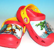 Crocs Marvel Superhero Squad Kids Shoes Toddler Infant Size 4/5 Red Brand New Photo
