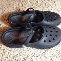 Crocs Mary Jane Flats  Womens Size 8 Black. Ked Photo
