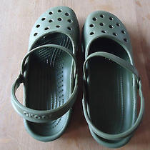Crocs Mary Jane Size 7 Green Gently Worn Photo
