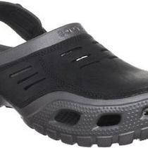 Crocs Mens Yukon Graphite/black Clog Sandals Us 8 Nib Photo