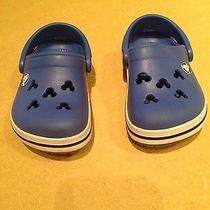 Crocs Mickey Mouse Blue Size 4/5 Photo