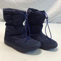 Crocs Navy Blue Ankle Winter Boots Sz 8 203422 Photo