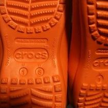 Crocs Orange Blue Mens 1 Womens Small Photo
