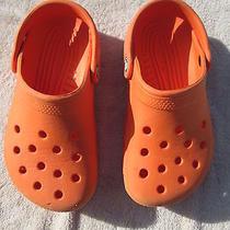 Crocs Orange Sandals Child Size 1-3 Photo
