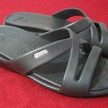 Crocs Patricia Women's Black Wedge Slides Sandals Sz 9 - New - Lf Photo