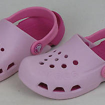 Crocs Pink Childrens Kids' Classic Clogs Shoes Size Child's 11 Photo