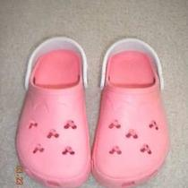 Crocs Pink Minnie Mickey Mouse Disney Shoes Girls 2-4 Clog Slip On Photo