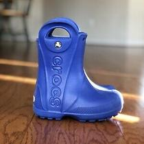 Crocs Rain Boots C 8 Toddler  Blue Unisex Kids Handle It Photo