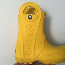 Crocs Rain Boots for Kids Size 8 Color Yellow Photo