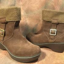 Crocs Shoes Crocs Suede Buckle Roll Over Cuff Ankle Boot  Color Brown 7.5 Photo