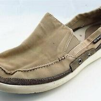 Crocs Shoes Size 13 M Brown Fashion Sneaker Fabric Men  Photo