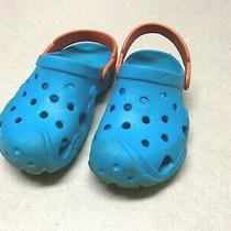 Crocs Size 11 Child Shoes Slip on Clogs Water Shoes Sandals Blue/orange Pre-Owne Photo