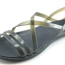 Crocs Size 6 M Black Strappy Synthetic Women Sandal Shoes  Photo