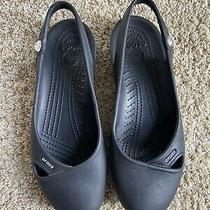 Crocs Size 9 Womens Black Ballet Flats Shoes Casual Slingback Photo