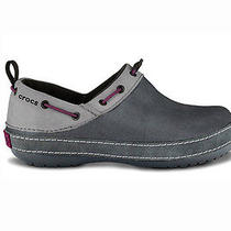 Crocs Surrey Graphite Grey Womens 5  Mens 4 Nwt New Clog Comfort Suede Accents Photo