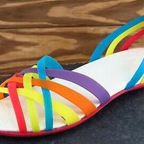 Crocs Sz 8 M Multicolor Strappy Synthetic Women Sandals  Photo