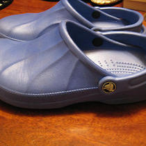 Crocs Water Beach Clogs Sandal's Size M 6 or W 8 Color Bright Blue Vguc Photo