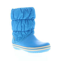 Crocs Winter Puff 14614-456 Womens Blue Synthetic Slip on Mid Calf Boots 7 Photo
