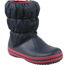 Crocs Winter Puff Boot Kids 14613-485 Boots Navy Blue Kids Synthetic Photo