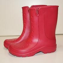Crocs Women's 6 Boots Red Anti Slippery Rain Photo