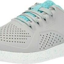 Crocs Women's 9 Foam Literide Speckled Pacer Women Sneaker Athletic Grey Blue Photo